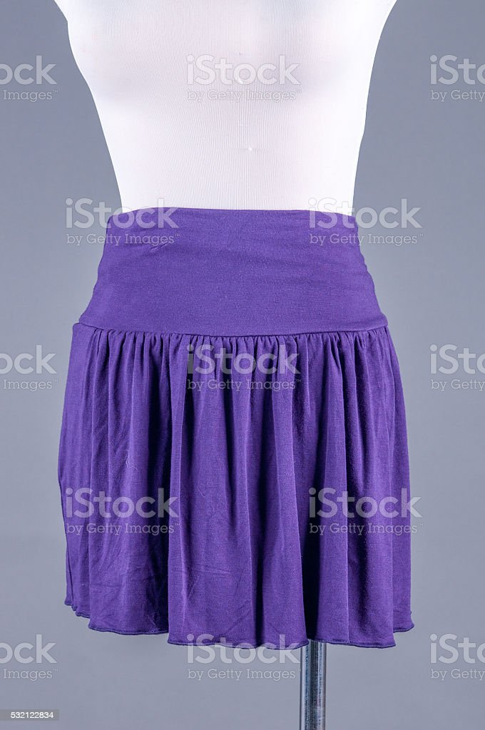 Women beautiful skirt on mannequin on white background stock photo