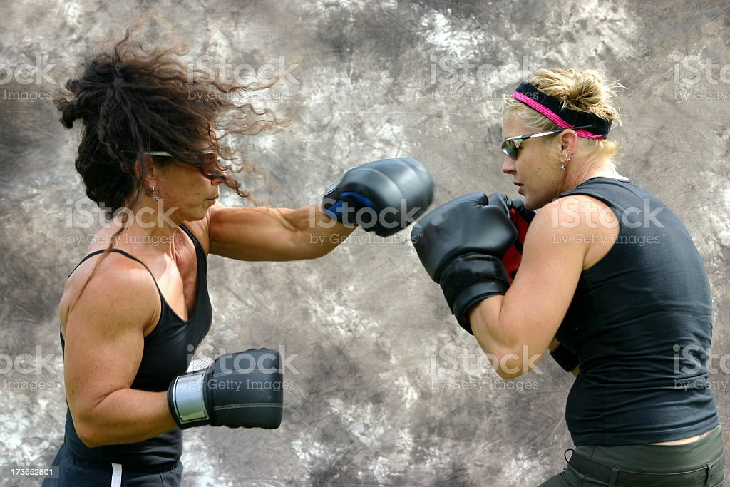 Women Boxing stock photo