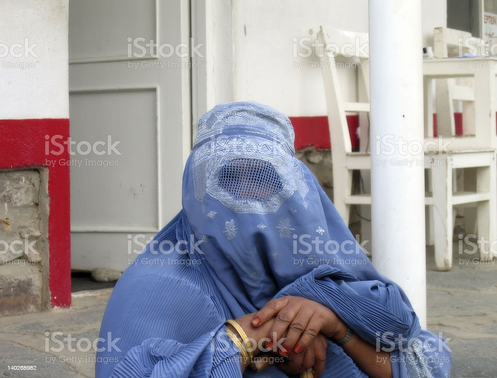 women burka stock photo