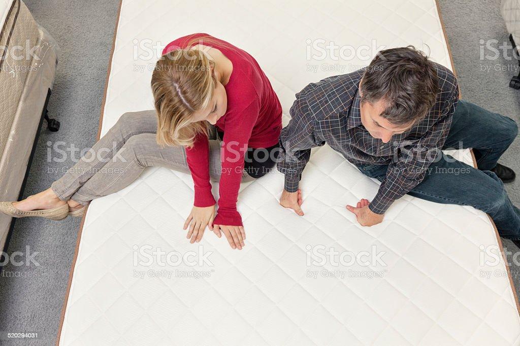 Women buying new furniture stock photo