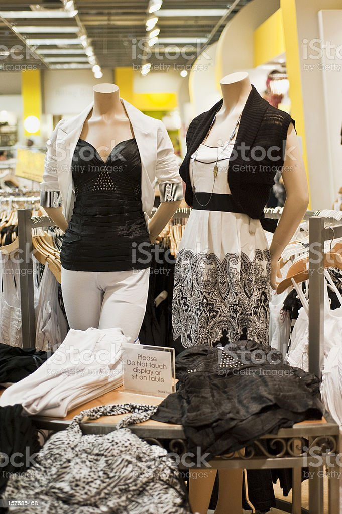 Women clothes section royalty-free stock photo