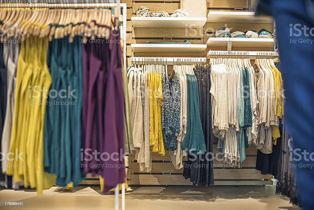 women clothes shop royalty-free stock photo