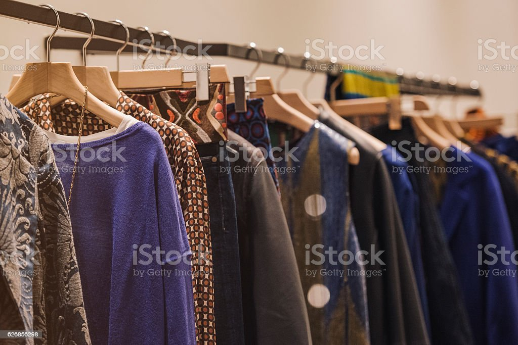 Women clothing - fall winter collection stock photo