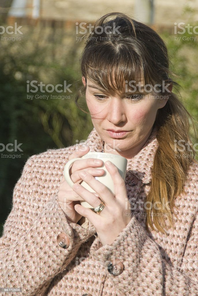 Women Contemplating royalty-free stock photo