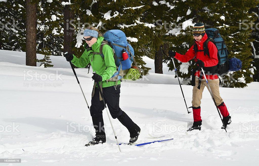 Women Cross Country Skiing stock photo