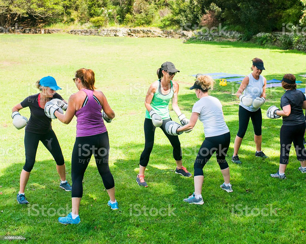 Women Cross Fitness stock photo