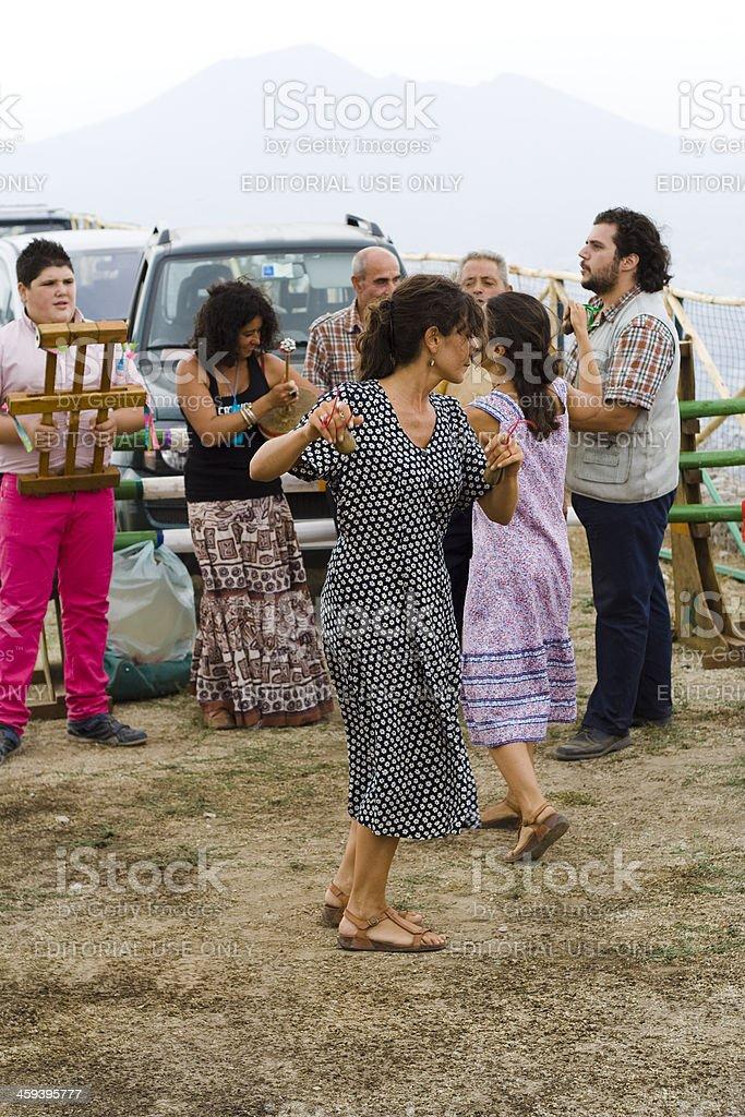 Women Dancing Tarantella royalty-free stock photo