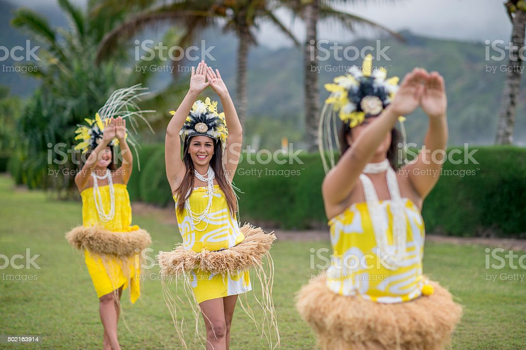 Women Dancing to The Sound of the Music stock photo