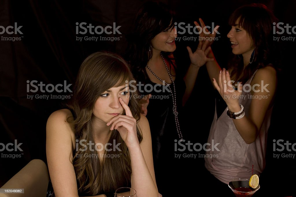 Women discussing on a party royalty-free stock photo
