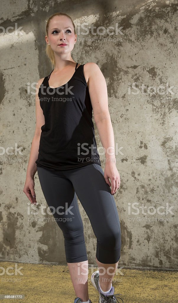 Women doing aerobics stock photo