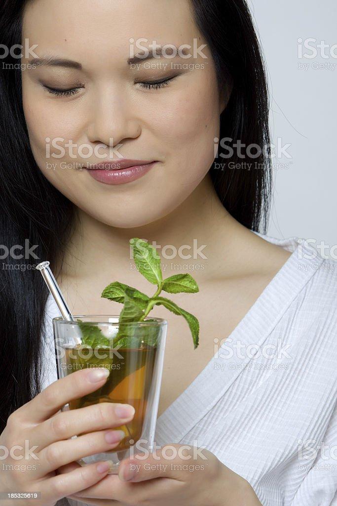 Women drinking tea stock photo