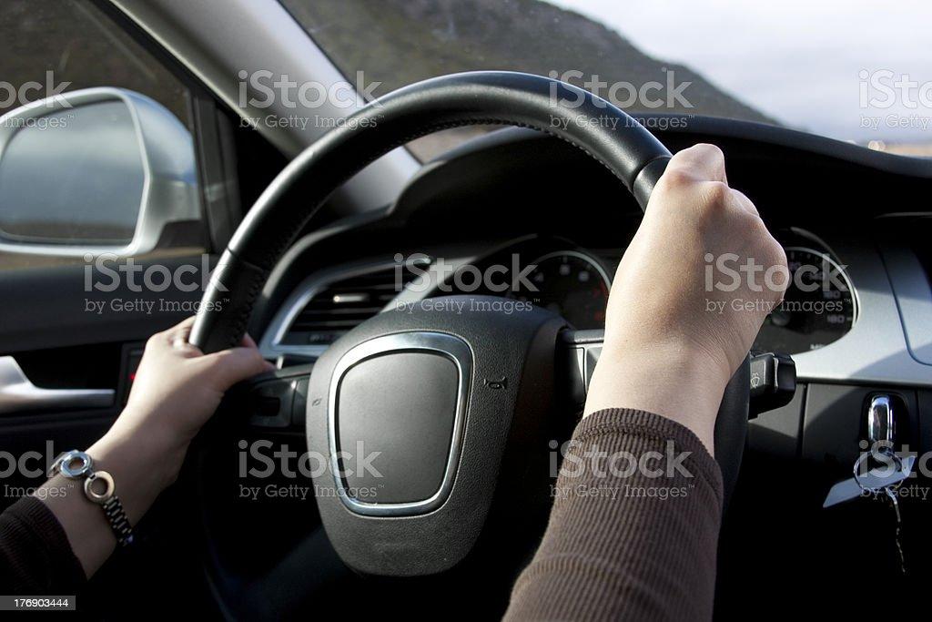 Women Driving royalty-free stock photo