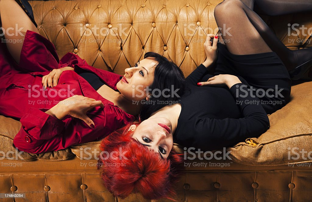 Women Embracing royalty-free stock photo