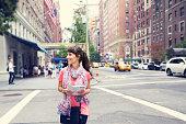 Women enjoys in streets of New York