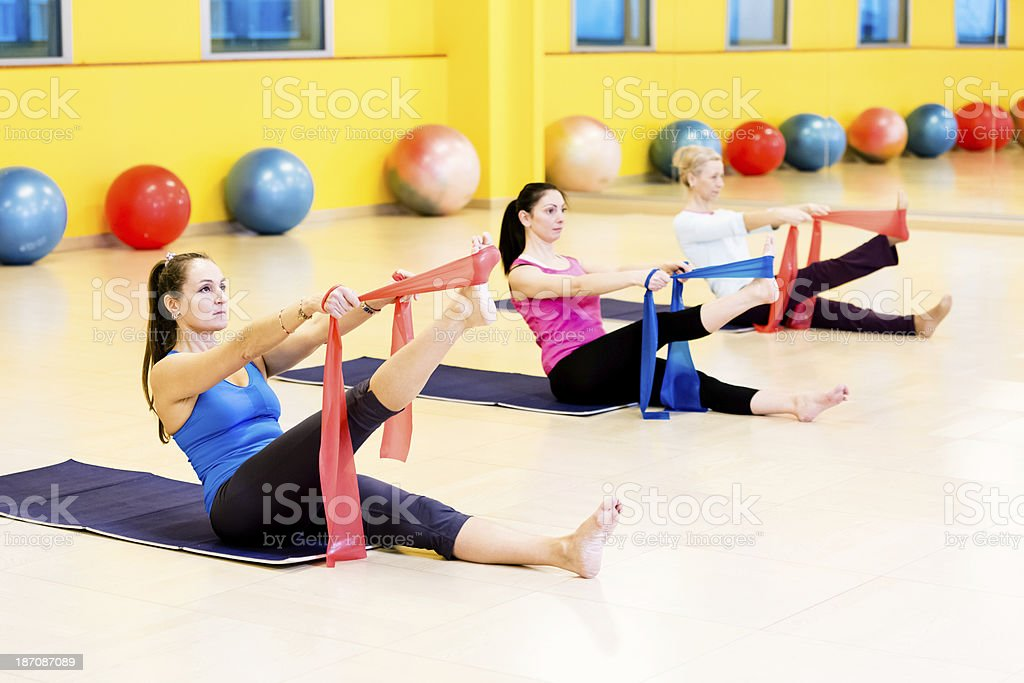 Women exercises pilates royalty-free stock photo