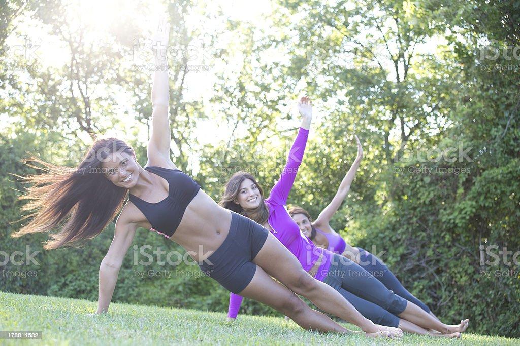 women exercising royalty-free stock photo