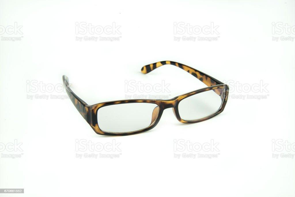 women eyeglasses on white background stock photo