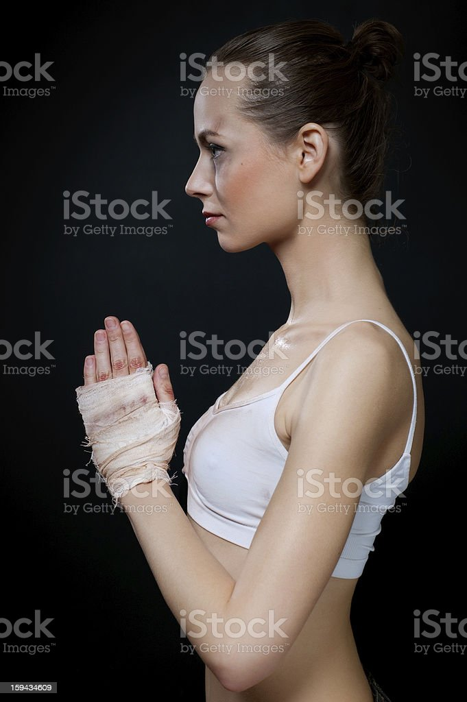Women fighter royalty-free stock photo