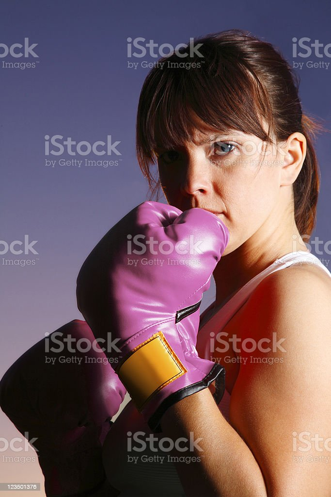 Women Fighting Against Breast Cancer royalty-free stock photo