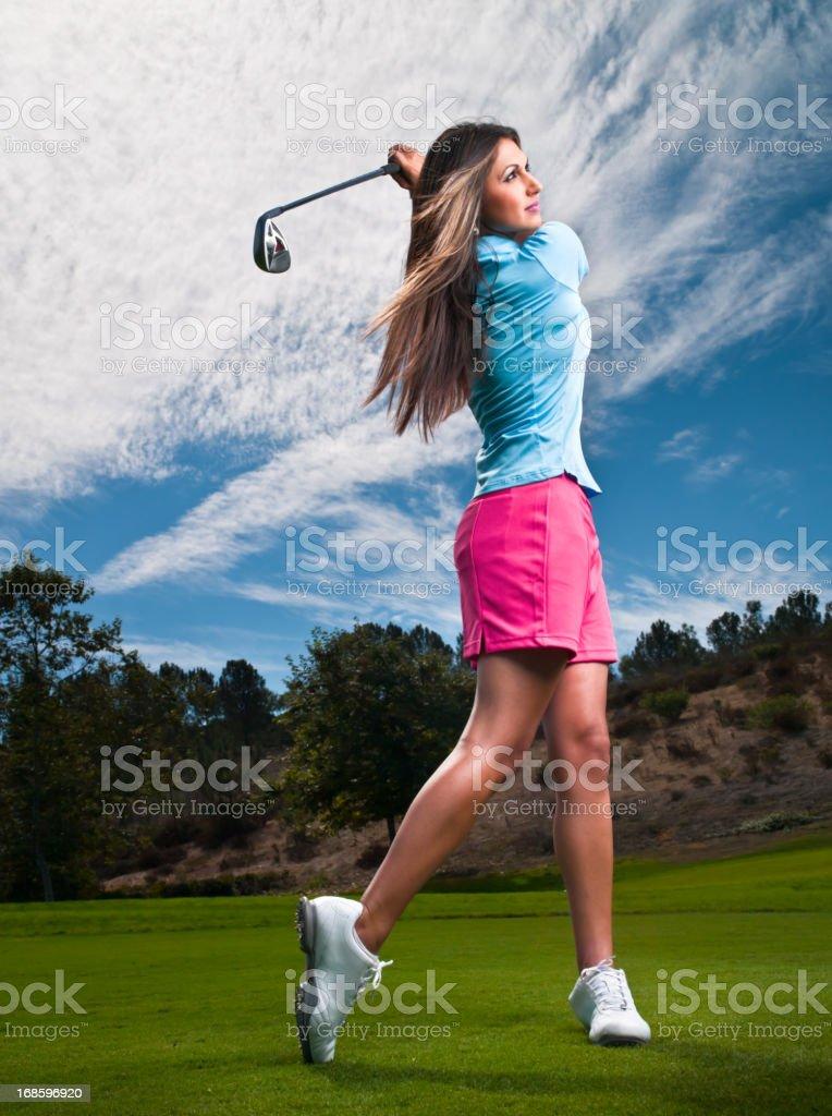 Women Golfer royalty-free stock photo