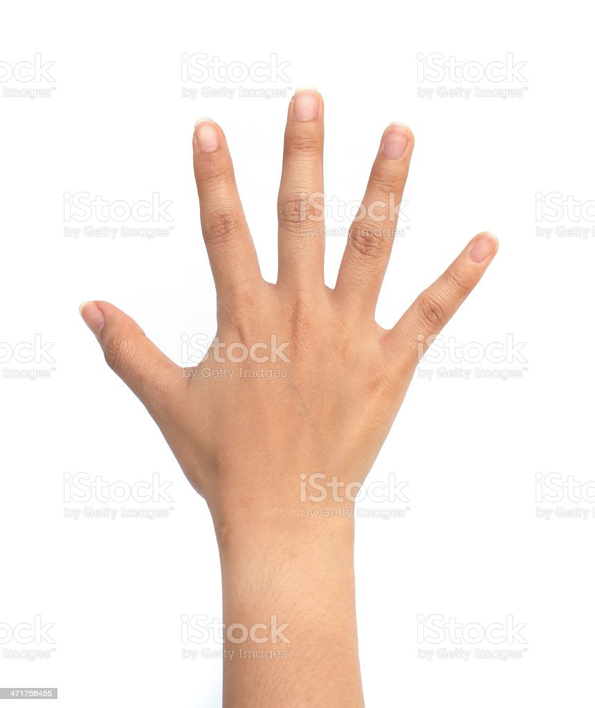 women hand sign. royalty-free stock photo