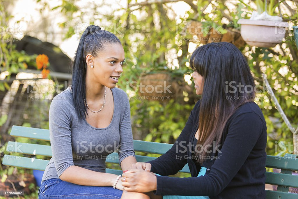Women Having a Discussion royalty-free stock photo