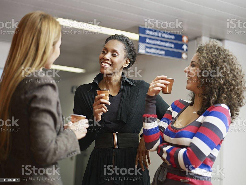 women having coffee break stock photo