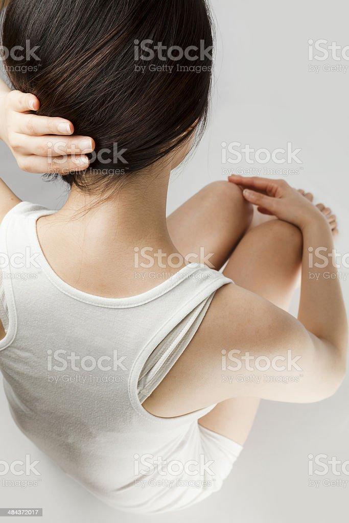 women human neck stock photo