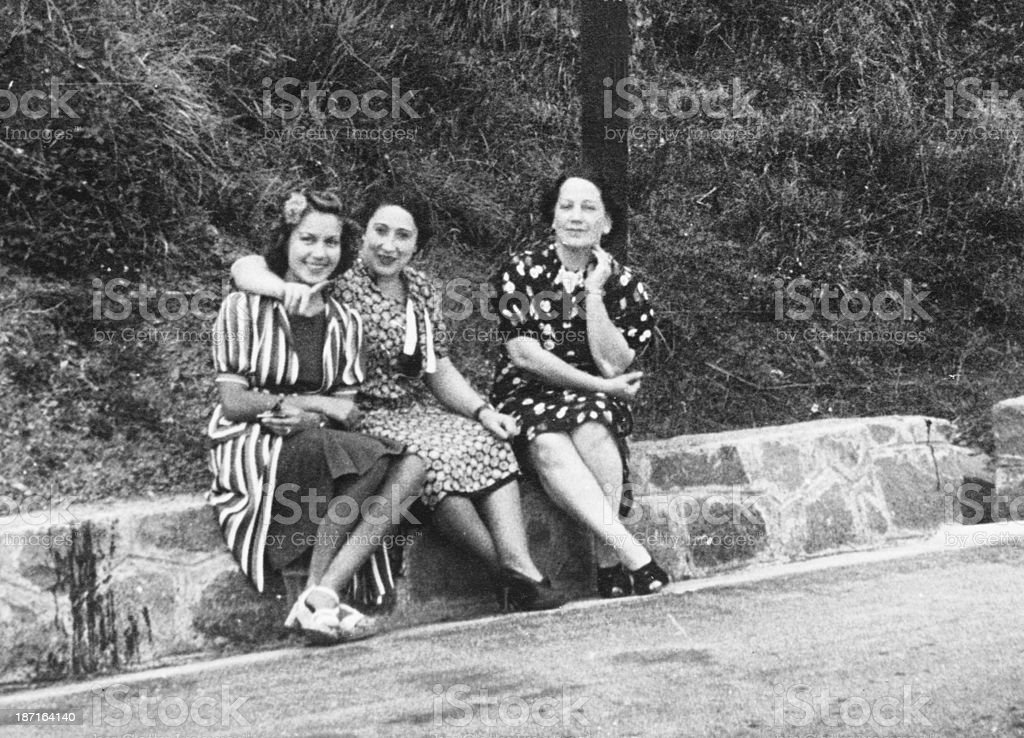 Women in 1930 royalty-free stock photo
