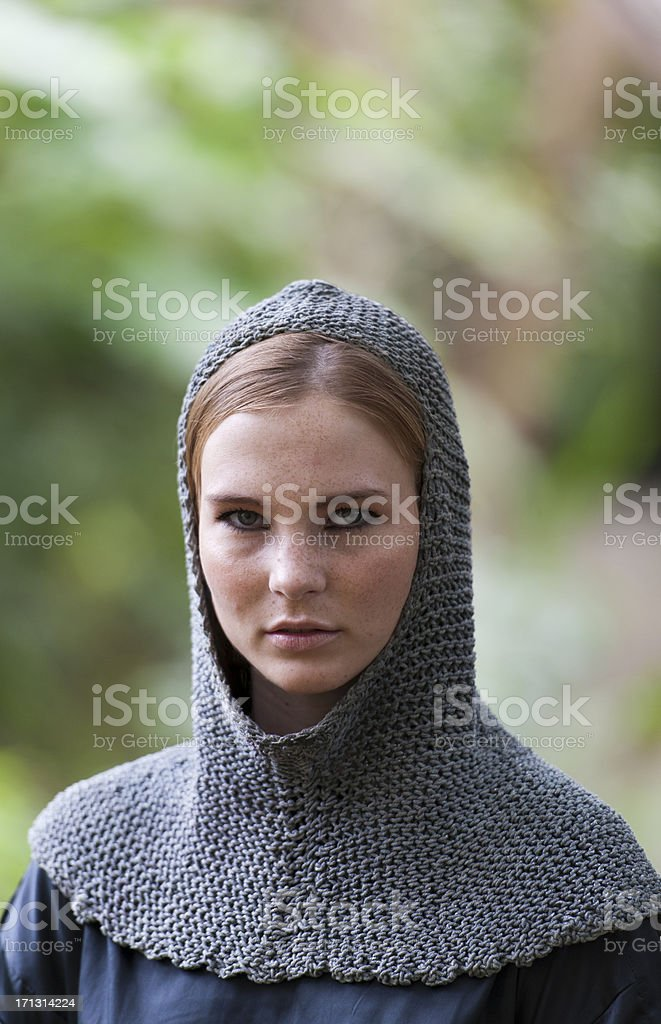 Women in a forest royalty-free stock photo