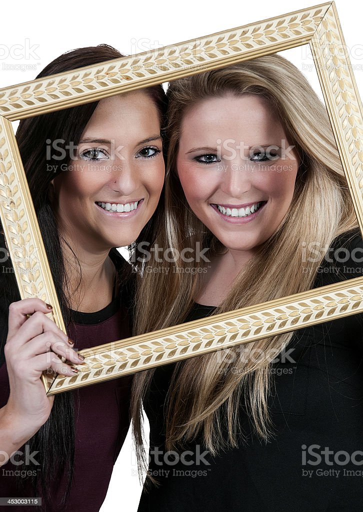 Women in a Frame royalty-free stock photo