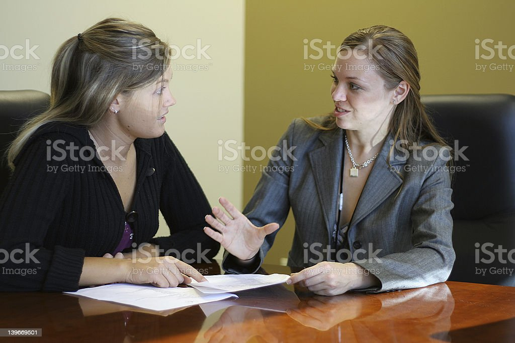 Women in a meeting royalty-free stock photo