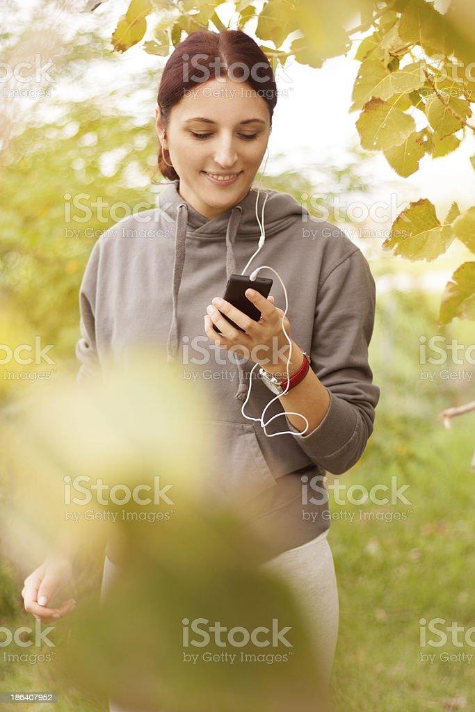 Women in autumn park royalty-free stock photo