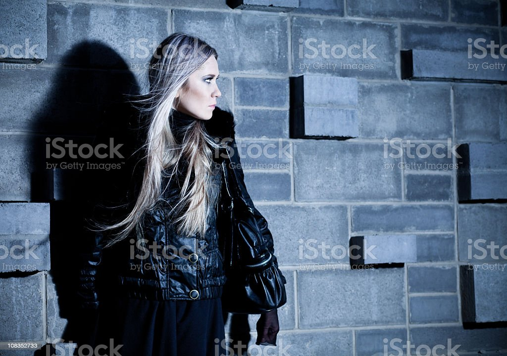 Women in black royalty-free stock photo