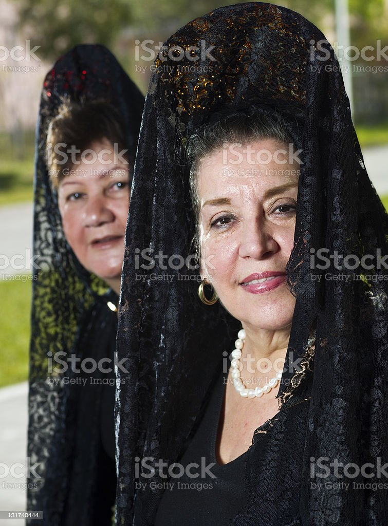 Women in black royalty-free stock photo