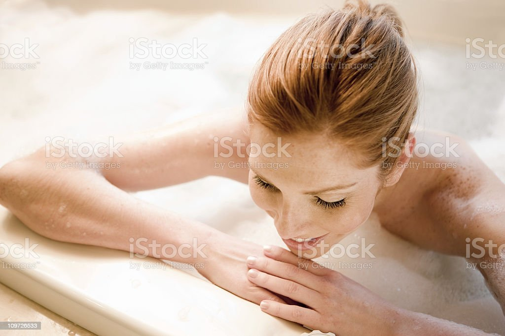 Women in Bubble Bath royalty-free stock photo