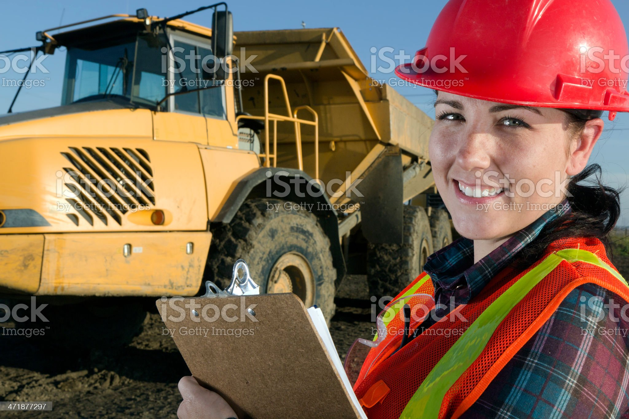 Women in Construction royalty-free stock photo