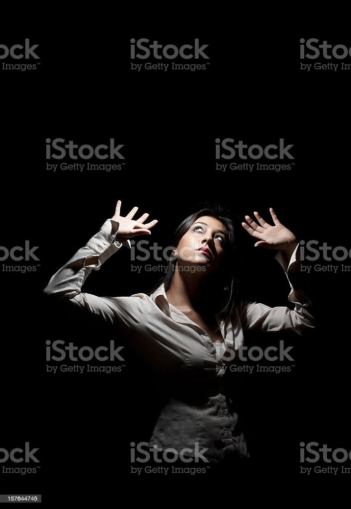 women in dark royalty-free stock photo