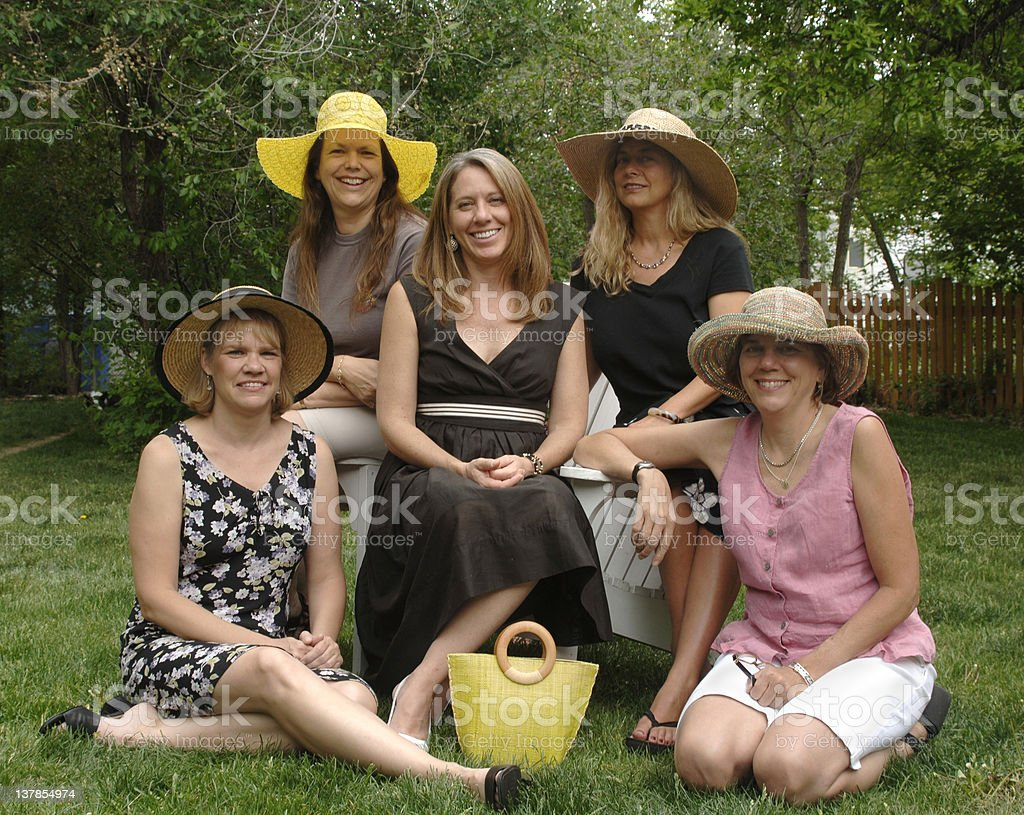 Women in Hats royalty-free stock photo