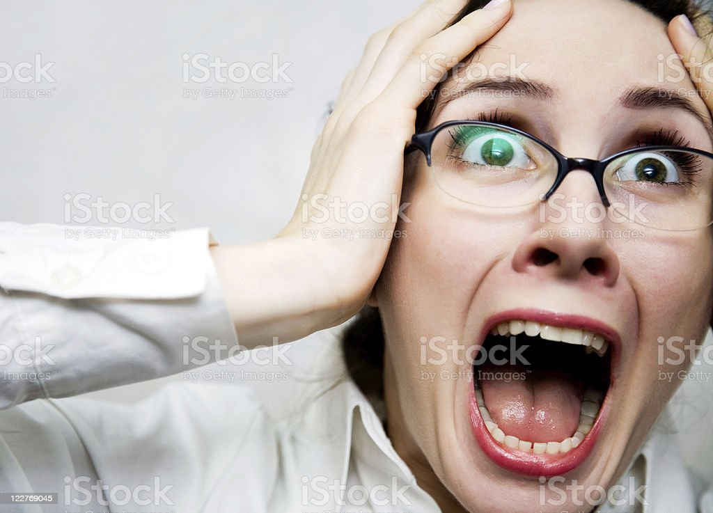 Women in horror stock photo