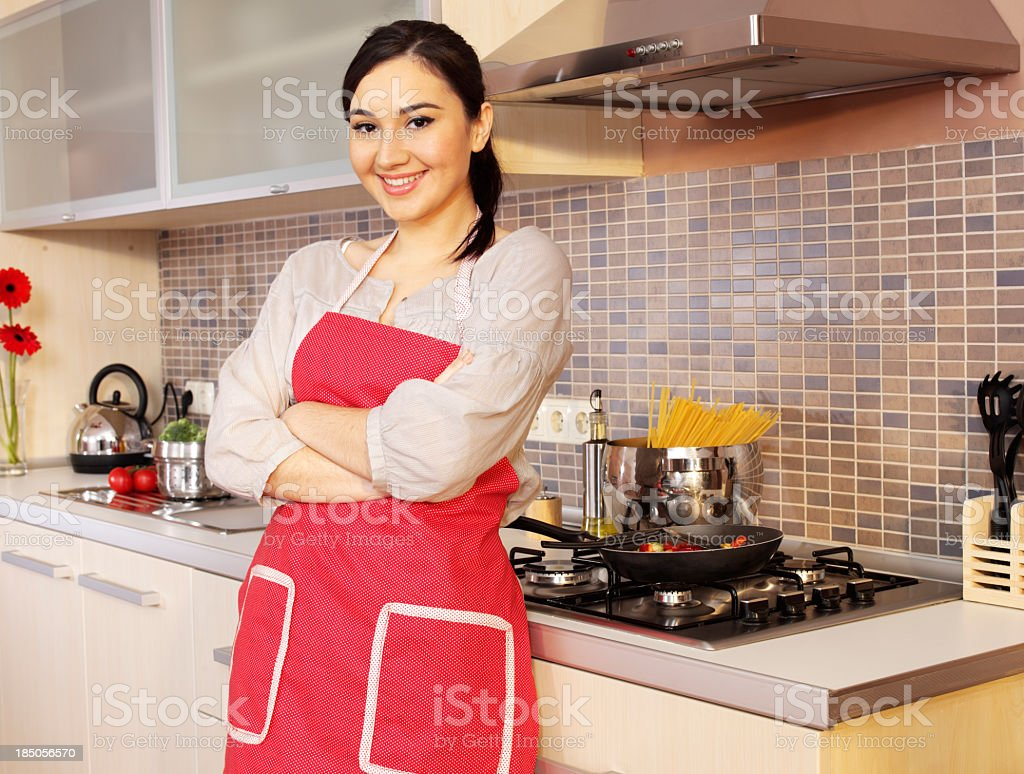 Women In Kitchen royalty-free stock photo