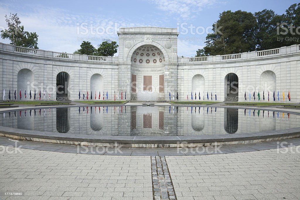 Women in Military Service Memorial at Arlington National Cemetery royalty-free stock photo