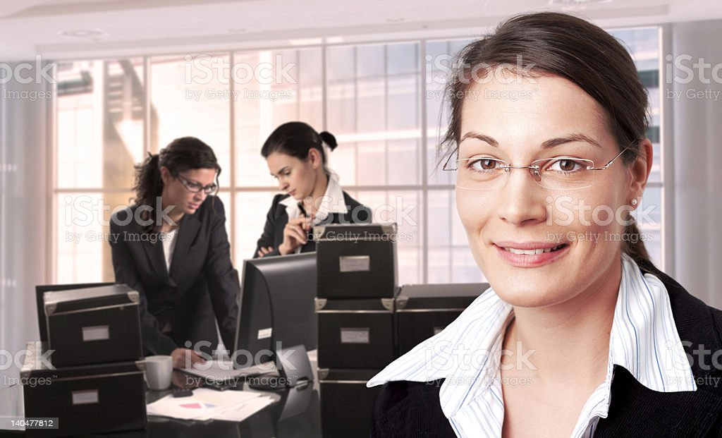 Women in office royalty-free stock photo