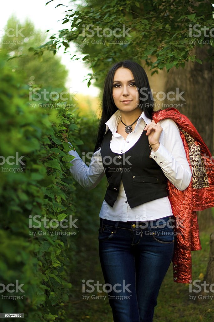 women in park royalty-free stock photo
