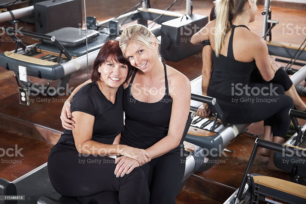Women in pilates studio stock photo