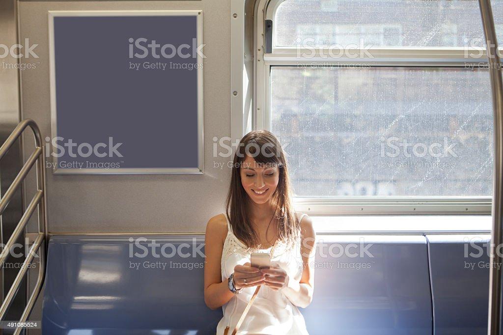 Women in subway stock photo