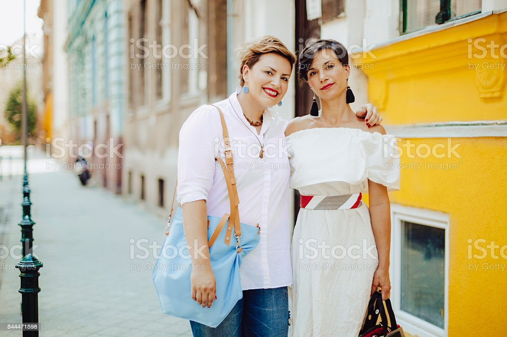 Women in the city stock photo