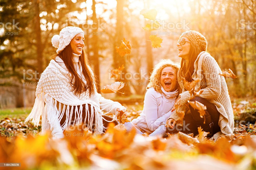 Women In The Park stock photo