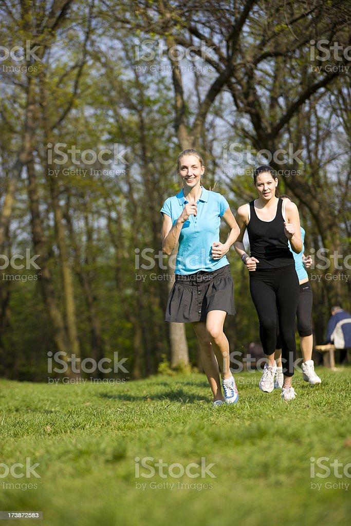 Women jogging royalty-free stock photo