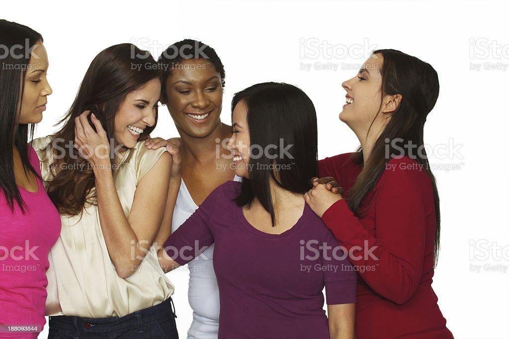 Women laughing royalty-free stock photo